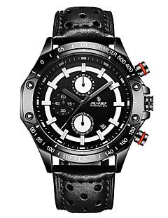 Pánské Sportovní hodinky Módní hodinky japonština Křemenný Kalendář Voděodolné Pravá kůže Kapela Hnědá