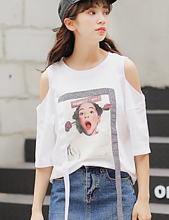 レディース 結婚式 Tシャツ,ヴィンテージ ラウンドネック ソリッド コットン 半袖