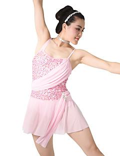 Μπαλέτο Φορέματα Γυναικεία Παιδικά Εκπαίδευση Σπαντέξ Με Πούλιες Σούρες Αμάνικο Φυσικό