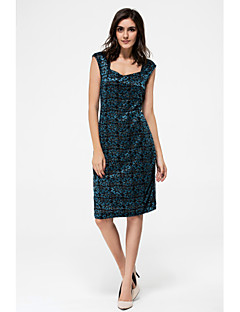 Women's Casual/Daily Sophisticated A Line Dress,Solid Round Neck Above Knee Sleeveless Others All Seasons Mid Rise Micro-elastic Medium