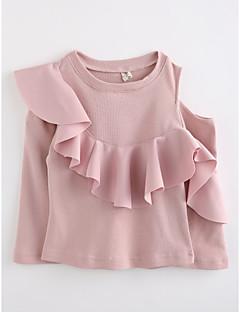 Mädchen Bluse einfarbig Baumwolle Frühling Herbst Lange Ärmel