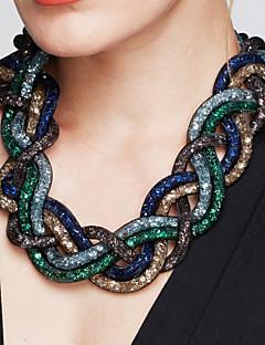 Femme Colliers Déclaration Forme de Croix Alliage Mode Bijoux Fantaisie Vintage Noir Marron Rouge Vert Bleu Bijoux PourSoirée Occasion