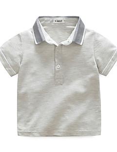 Jungen T-Shirt einfarbig Baumwolle Herbst Kurzarm Normal