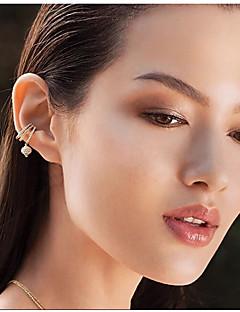 여성용 클립 귀걸이 모조 큐빅 여러 가지 착용 귀여운 스타일 열린 패션 보헤미아 스타일 지르콘 은 도금 보석류 제품 결혼식 일상 캐쥬얼 정장