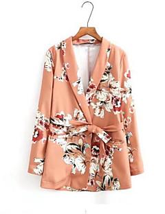 Feminino Terno Casual Simples Primavera Outono,Sólido Padrão Outros Colarinho de Camisa Sem Manga