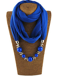 Women's Alloy Pearl Polyster Infinity Scarf Solid All Seasons