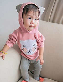 bebê Blusa Cor Única Outono-