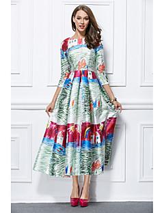 プリンセス ジュエル アンクル丈 ミカドシルク フォーマルイブニング ドレス とともに パターン/プリント 〜によって YIYIAI