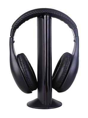 mh2001 sluchátka 3,5mm přes ucho 5 v 1 Bezdrátová s mikrofonem FM rádiem pro mp3 / PC / TV