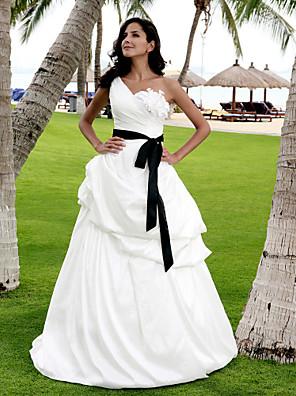 Lanting Bride® Linha A / Princesa Pequeno / Tamanhos Grandes Vestido de Noiva - Clássico e atemporal / Chique e Moderno / Elegante e