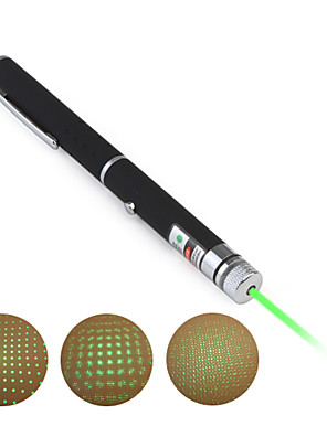 2-in-1 5 mW 532nm astronomie silný zelený laser pointer (2xAAA)