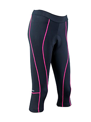 SANTIC® Calças 3/4 Para Ciclismo Mulheres Moto Respirável / Secagem Rápida Fundos Coolmax Riscas Primavera / Outono Ciclismo/Moto