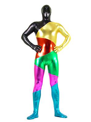 monivärinen sekoitettu väri kiiltävä metallinen spandex Zentai