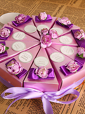 lila virág torta javára doboz (10 db)
