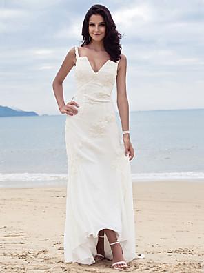 Lanting Bride® מעטפת \ עמוד תפוח / שעון חול / משולש הפוך / עלמות / אגס / קטן / מידה גדולה / מלבן שמלת כלה - קלסי ונצחי / אלגנטי ויוקרתי