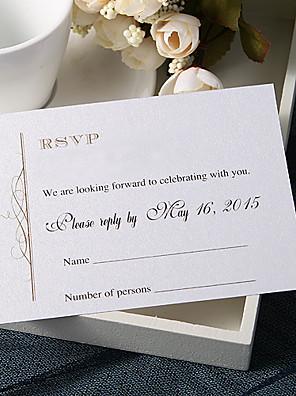 """Gepersonaliseerde Platte Kaart Uitnodigingen van het Huwelijk Antwoordkaarten-20 Stuk/Set Klassieke Stijl Parel Papier3 ½"""" x"""