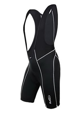 NUCKILY® Bermudas Bretelle Homens Moto Respirável / Secagem Rápida / Vestível Calções Bibes / Shorts Elastano / Poliéster Cor Única