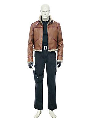 Inspirovaný Resident Evil Leon Scott Kennedy Video Hra Cosplay kostýmy Cosplay šaty Jednobarevné Hnědá Dlouhé rukávyKabát / Vesta /