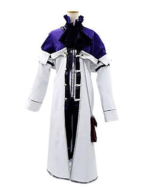 קיבל השראה מ Pandora Hearts Xarxes Break אנימה תחפושות קוספליי חליפות קוספליי טלאים לבן / סגול שרוולים ארוכיםמעיל / חולצה / מכנסיים קצרים