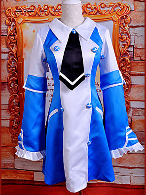 קיבל השראה מ Pandora Hearts Echo אנימה תחפושות קוספליי חליפות קוספליי / שמלות טלאים כחול בלי שרוולים שמלה