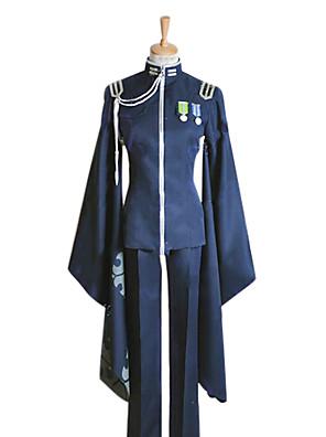 קיבל השראה מ Vocaloid Kaito וִידֵאוֹ מִשְׂחָק תחפושות קוספליי חליפות קוספליי / קימונו טלאים כחול שרוולים ארוכיםמעיל / מכנסיים / כובע /
