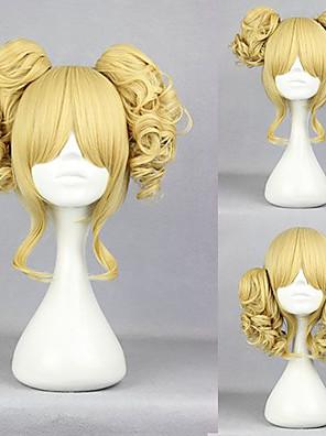 Perucas Lolita Doce Lolita Curto Dourado Perucas Lolita 35 CM Perucas de Cosplay Cor Única Perucas Para Feminino