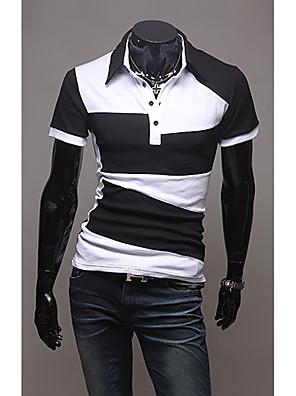 Herre polo-T-shirt med farvemæssigt Block