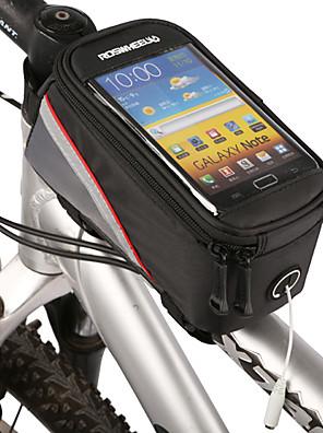 ROSWHEEL® תיק אופנייםתיקים למסגרת האופניים / טלפון נייד תיק רוכסן עמיד למים / תיק קטל מובנה / עמיד לאבק / מסך מגע / טלפון/Iphoneתיק