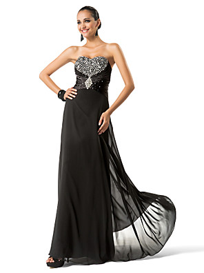 TS Couture® Formal Evening / Military Ball Dress - Sparkle & Shine Plus Size / Petite Sheath / Column Strapless / Sweetheart Floor-length Chiffon with
