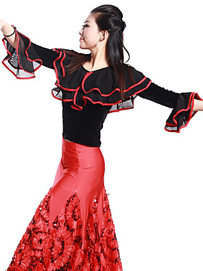 ריקודים סלוניים חלקים עליונים בגדי ריקוד נשים אימון ויסקוזה