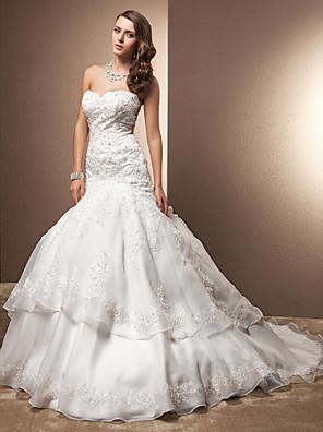 Lanting Bride® Trompette / Sirène Petites Tailles / Grandes Tailles Robe de Mariage , Chic