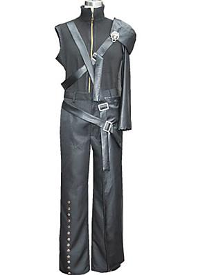 Inspirovaný Final Fantasy Cloud Strife Video Hra Cosplay kostýmy Cosplay šaty Patchwork CzarnyKabát / Kalhoty / Chrániče na ramena /