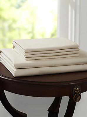 """eenvoudig&opulence® hoeslaken, 500 tc 100% katoen stevige tot 15 """"deep beige"""