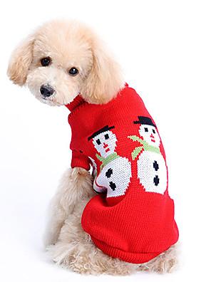 כלבים סוודרים Red בגדים לכלבים חורף אחיד חמוד / Keep Warm / חג מולד