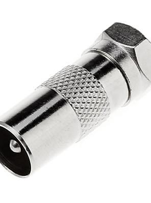 Coxial F-Type Male Plug PAL Female Jack Přímý adaptér pro TV