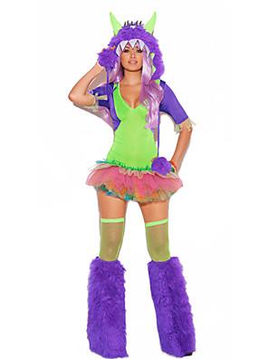 Cosplay Kostýmy / Kostým na Večírek Monsters Festival/Svátek Halloweenské kostýmy Fialová PatchworkŠaty / Návleky na nohy / Doplňky do
