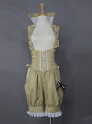 Kalhoty Sweet Lolita Lolita Cosplay Lolita šaty Béžová Jednobarevné Lolita Lolita Šaty Pro Dámské Bavlna