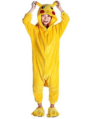 Kigurumi פיג'מות פיקה פיקה /סרבל תינוקותבגד גוף פסטיבל/חג הלבשת בעלי חיים Halloween צהוב טלאים פלנל Kigurumi ל ילדהאלווין (ליל כל