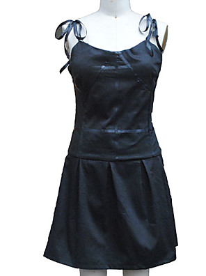 Inspirovaný Budoucí Diary Gasai Yuno Anime Cosplay kostýmy Cosplay šaty / Šaty Jednobarevné Czarny Bez rukávů K šatům