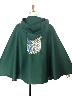 קיבל השראה מ Attack on Titan Levy אנימה תחפושות קוספליי חולצות קוספליי / תחתון טלאים ירוק גלימה
