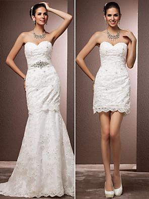 Lanting Bride® Sereia Pequeno / Tamanhos Grandes Vestido de Noiva - Chique e Moderno / Glamouroso e Dramático / RecepçãoInspiração