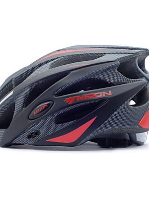 קסדה - לנשים / לגברים / יוניסקס - חצי צדפה - רכיבה על אופניים / רכיבה על אופני הרים / רכיבה בכביש (אדום / שחור , PC / EPS) 25פתחי