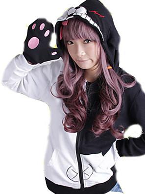 Inspirerad av Dangan Ronpa Monokuma anime Cosplay dräkter cosplay Pull Lappverk Svart Lång ärm Kappa