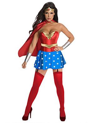 תחפושות קוספליי / תחפושת למסיבה גיבורי על פסטיבל/חג תחפושות ליל כל הקדושים אדום / כחול טלאים שמלה / כיסוי ראש / גלימההאלווין (ליל כל