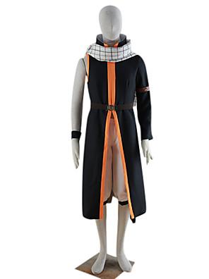 Inspirovaný Fairy Tail Natsu Dragneel Anime Cosplay kostýmy Cosplay šaty Patchwork CzarnyKabát / Kalhoty / šála či šátek / Náramky /