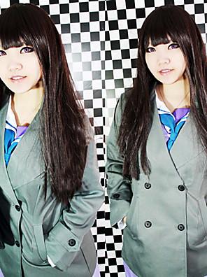 Inspirovaný Noragami Cosplay Anime Cosplay kostýmy Cosplay Topy / Bottoms Patchwork Zielony Kabát / šála či šátek