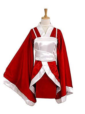 קיבל השראה מ LOL Akari וִידֵאוֹ מִשְׂחָק תחפושות קוספליי חליפות קוספליי / קימונו טלאים אדום שרוולים ארוכים מעיל קימונו / וסט