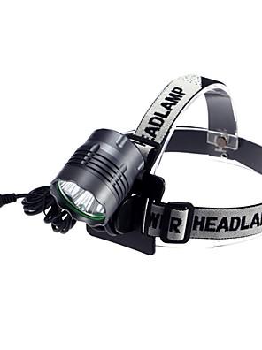 Iluminação Lanternas de Cabeça LED 4000 Lumens 3 Modo Cree XM-L2 T6 18650.0 Prova-de-Água / RecarregávelCampismo / Escursão /