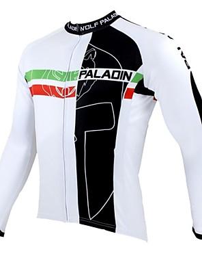 PALADIN® Camisa para Ciclismo Homens Manga Comprida Moto Respirável / Mantenha Quente / Secagem Rápida / Resistente Raios Ultravioleta