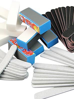 40pcs 5 Typer Nail Art Filer & Buffer Blocks (blomst typer) Manicure Sæt til Nails Akryl